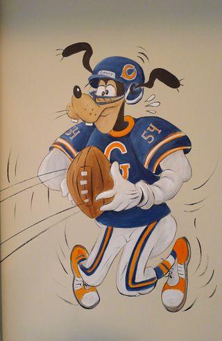 sports mural,goofy,football