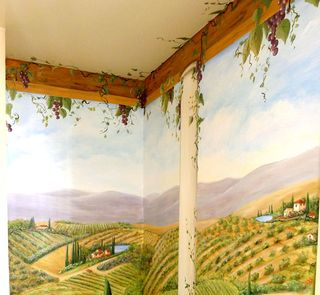 vineyard-mural-tuscany-chianti-staircase-grapes