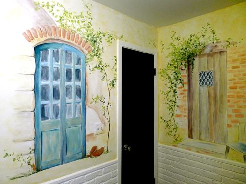 French-door-bathroom-mural