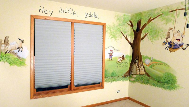 Mother-goose-nursery-mural-hey-diddle-diddle
