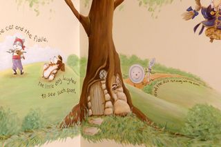 Mother-goose-nursery-mural-hey-diddle-fiddle