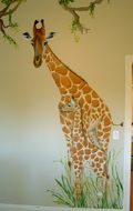jungle-mural-mom-baby-giraffes