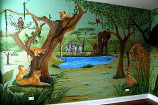 Jungle-crib-wall-web