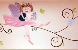 Fairy-ballet-nursery-mural