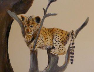 jungle-mural-leapard-cub