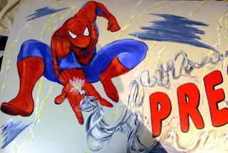 Super-hero-mural-spider-man-web