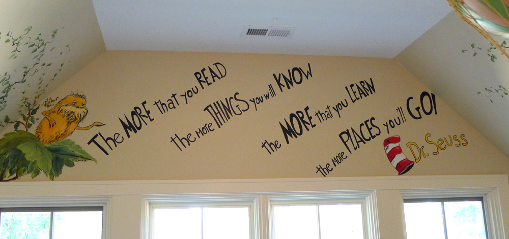 Jungle Animal Mural With Dr Seuss Quote Art Ideas By Debbie Cerone