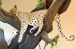 Safari-jungle-leopard-mural