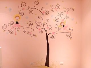 Fairy-tree-ballet-nursery-mural-contemporary