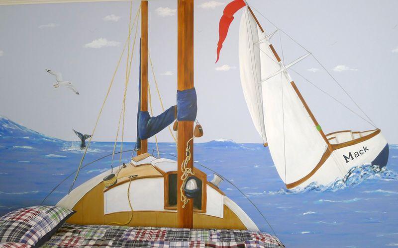 Sail-boat-mural-headboard