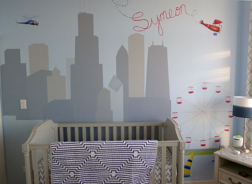 Skyline-chicago-ferris-wheel-sail-boats-plane-helecopter-boys-mural