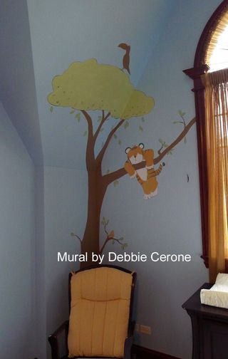 Jungle-safari-nursery-mural-lion