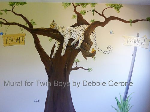 Jungle-mural-twin-boys-nursery