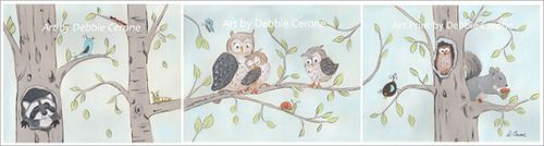 Woodland-animal-prints-etsy-570-set-of-3