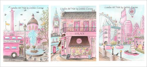 London-prints-three-8X10-pink-personalized-1500