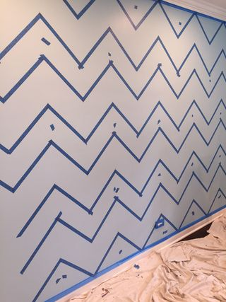 Chevron-taped-wall