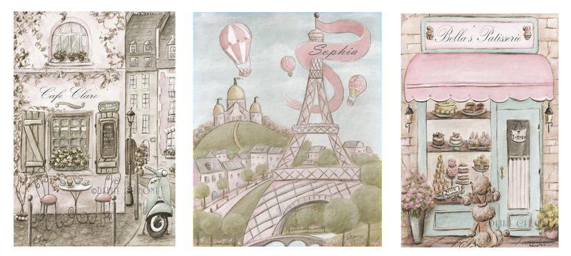 Vintage-Paris-Cafe-Patisserie-Eiffel-Tower