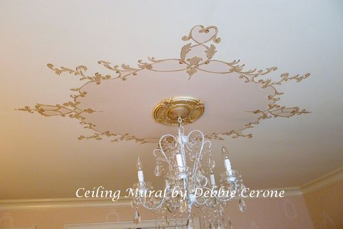 Ceiling-cartouche-girl's-bedroom
