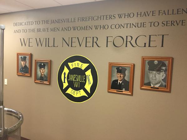 Memorial Wall Mural Janesville Wisconsin Fire