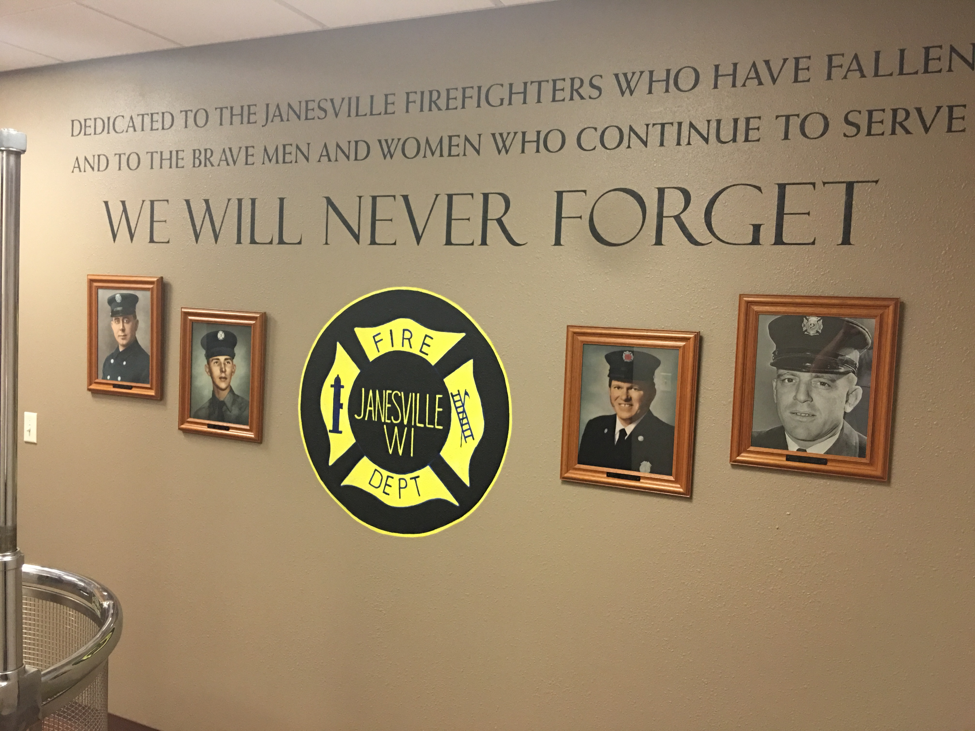 I Recently Painted This Memorial Wall Mural U0026 Custom Stencil At The  Beautiful New Fire House In Janesville, Wisconsin. The Chief, Randy Banker,  ... Part 60