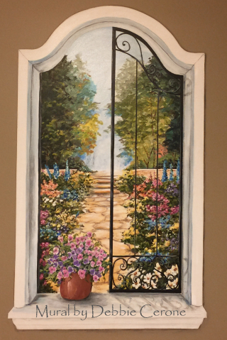 Window-Wrought-Iron-Shutters-Garden-Mural