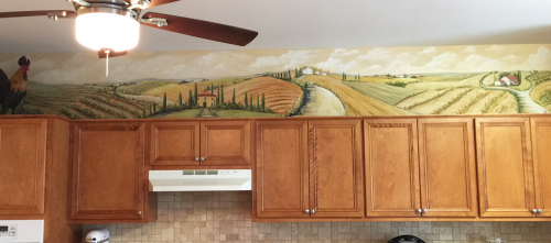 Kitchen-cabinet-mural-idea