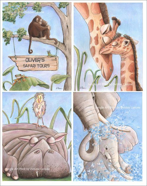 Jungle-prints-setof4