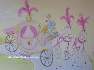 Castle-mural-horses-carriage-cinderella