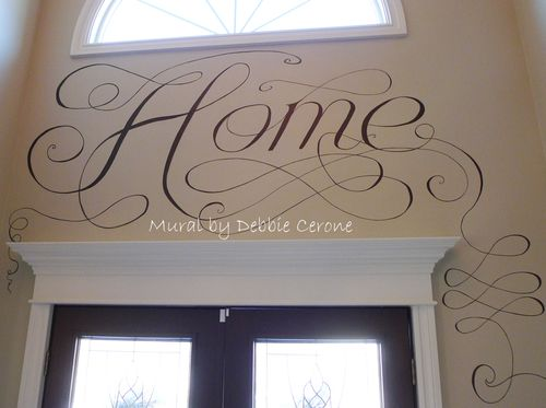 Hand-lettering-scrolls-calligraphy-painted-in-foyer-home