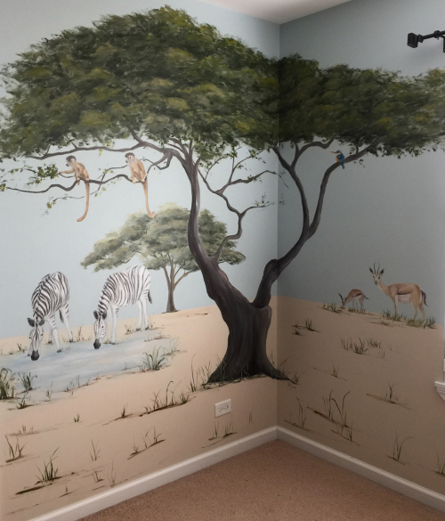 safari-nursery-zebra-tree-monkeys